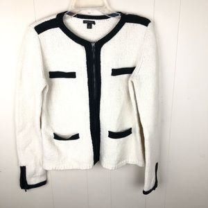 Ann Taylor Zip Front Cardigan Sweater